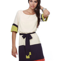 Marjorie May Color Block Dress