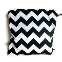 Black and white chevron wet bag swim suit pool beach bathing summer bag waterproof small cloth diaper baby summer