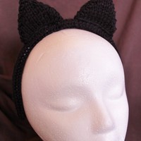 Cat Ears Headband - Adult- Black - Ready to Ship