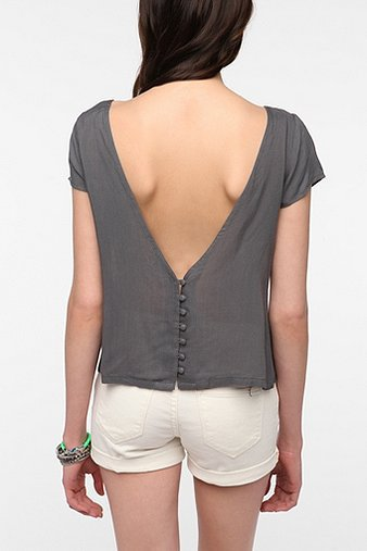 Lucca Couture Studded V-Back Tee