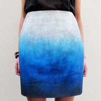 Blue Skies Ombré Skirt