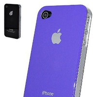 Amazon.com: 069 PURPLE and 87 BLACK iSpresse cases for Apple iPhone 4 4G 4S Case Hard Cover Bumper AT&amp;T and VERIZON and Sprint: Cell Phones &amp; Accessories