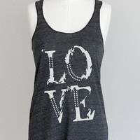Love Racerback Tank Top in Eco Black