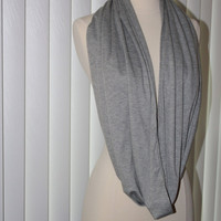 Heather gray infinity scarf - LOOP