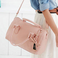 YESSTYLE: PG Beauty- Bow-Accent Boston Bag (Pink - One Size) - Free International Shipping on orders over $150