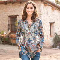PAISLEY SILK KURTA