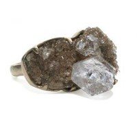 Herkimer 40ctw Diamond Ring