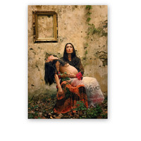 "Frida Kahlo,Original Art Portrait Photography Print,6""x8"",frida, room decor, winter gift, Surreal, Nude Portrait"
