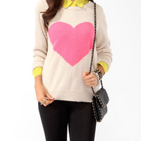 Longline Big Heart Sweater
