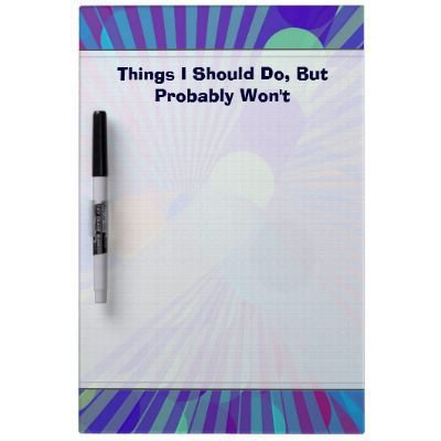 Spira-Weird Dry Erase Boards from Zazzle.com