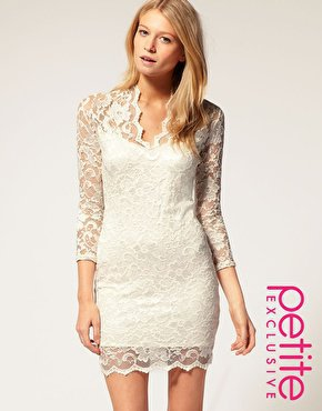 ASOS PETITE Exclusive Katie Lace Dress at asos.com