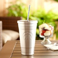 Starbucks 2012 Limited Edition Double Walled Cold Cup Tumbler, 16 Fl Oz: Kitchen & Dining