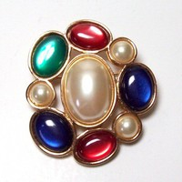 Vintage Avon Multicolored Brooch