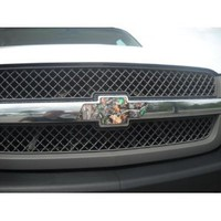 Chevrolet Bowtie Vinyl Decal Wrap Camo Color Cover for Chevy Truck Grill Emblem: Automotive