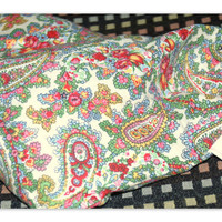 Therapeutic Rice Bag and Cover Paisleys Burgundy GreensYellows