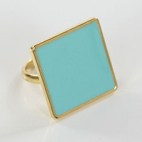 Square Pendant Ring