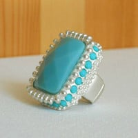 Radiant Summer Mint Ring [2841] - $12.00 : Vintage Inspired Clothing & Affordable Summer Dresses, deloom | Modern. Vintage. Crafted.