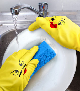 Dishplay Dish Washing Gloves