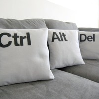 Ctrl - Alt - Del Three Pillow Set: Geeks Need Pillows Too - Whimsical & Unique Gift Ideas for the Coolest Gift Givers