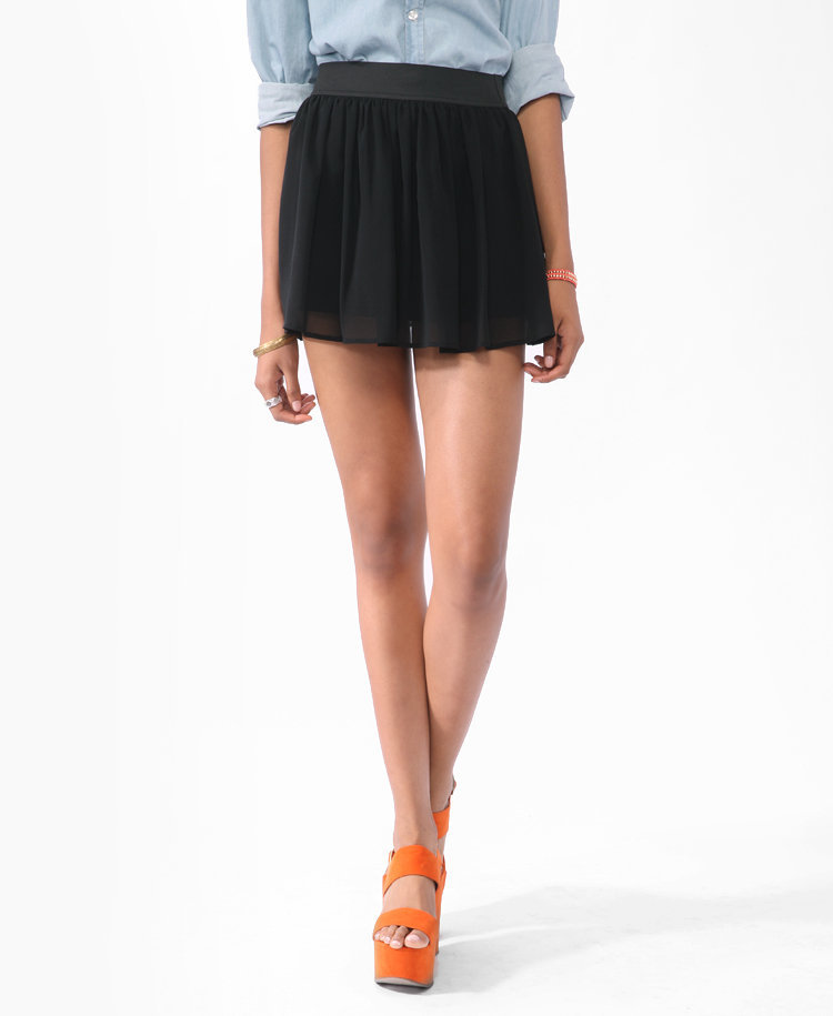 Short Chiffon Skirt