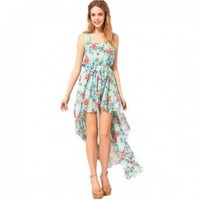 Bqueen Floral Chiffon Dress - Dresses - Apparel