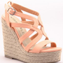 PEACH CORAL WEDGE