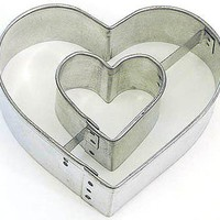 Heart in Heart cookie cutter 3.5 inches Valentine&#x27;s Day