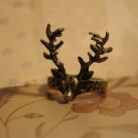 Retro Forest Treasure Deer Ring