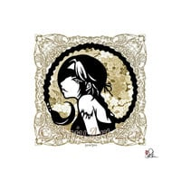 Zodiac Scorpio / 8x10 Graphic Art Print / Gold Wall Deco Illustrated by Saju