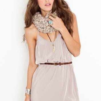 Racerback Wrap Dress - Taupe