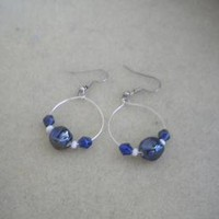 Floating Beads Hoops by IllusionsbyDonna on Zibbet