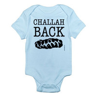 Challah Back - Custom 100% Cotton Jersey Knit Baby Bodysuit - FREE SHIPPING