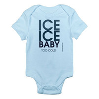 Ice Ice Baby - Custom 100% Cotton Jersey Knit Baby Bodysuit - FREE SHIPPING