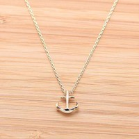 TINY ANCHOR necklace in gold  by bythecoco on Zibbet
