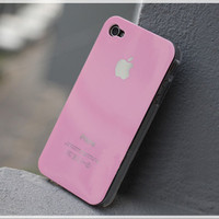 Iphone 4 and Iphone 4s case.iphone 3 case.DIY iphone 4/4s case stuff.white,black and pink.apple logo.