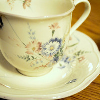 Pretty Floral Vintage Tea Cups (Set of 2)