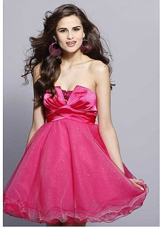 [$145.10 ] Elegant Strapless Short Homecoming Dress - Dressilyme.com