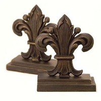 Amazon.com: Regal Fleur de Lis Bookends Pair: Furniture & Decor