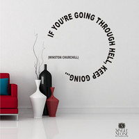 Wall Decal Quote Keep Going Winston Churchill - Vinyl Text