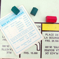 French Monopoly set Vintage