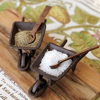 Cast-Iron Wheelbarrel Salt Cellar | Pottery Barn