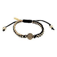 Carolina Loyola Disco Black and Beige Macrame Bracelet - Max and Chloe