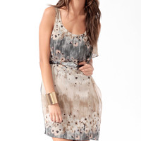 Abstract Flutter Shift Dress
