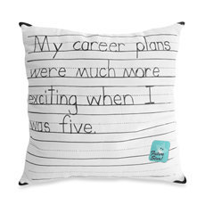 Threadless My Career Plan Toss Pillow - Bed Bath &amp; Beyond