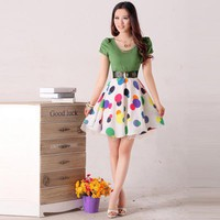 Short Sleeve Slim Thin Chiffon Dress - Designer Shoes|Bqueenshoes.com