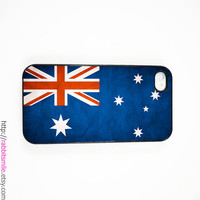 iPhone 4 Case, iPhone 4s Case, iPhone 4 Cover, Hard iPhone 4 Case - Vintage Australia Flag