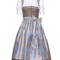 mytheresa.com Exclusive cotton Mieder ruffled dirndl with Gritti ruffled blouse and printed apron