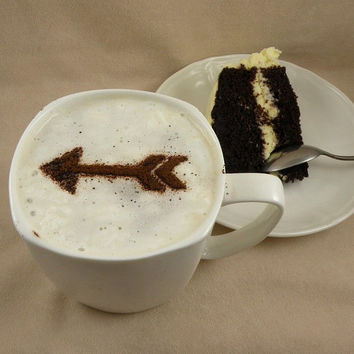 Personalized Arrow  - coffee stencil, cake stencil, cupcake stencil