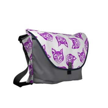 Mollycat Muddle Blue - courier bag