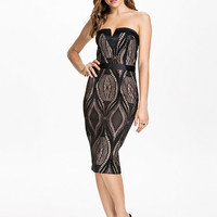 Bandeau Pencil Dress - River Island - Black - Party Dresses - Clothing - Women - Nelly.com